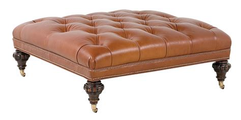 square leather tufted ottoman large square traditional tufted leather ottoman club