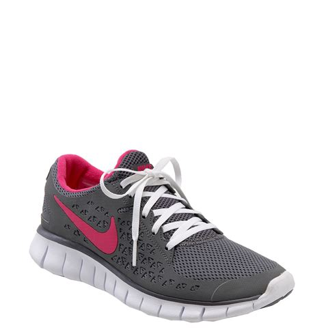 gray and pink nike running shoes nike free run running shoe in gray grey