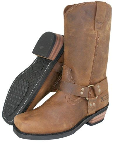 mc boots xelement s brown harness motorcycle boots