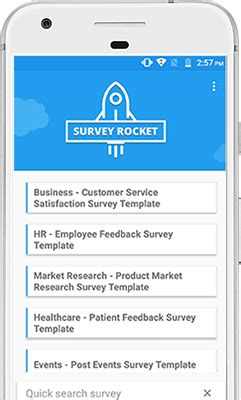 survey mobile app customer survey mobile application suitecrm survey rocket