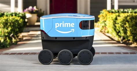 amazon testing delivery   driving robots