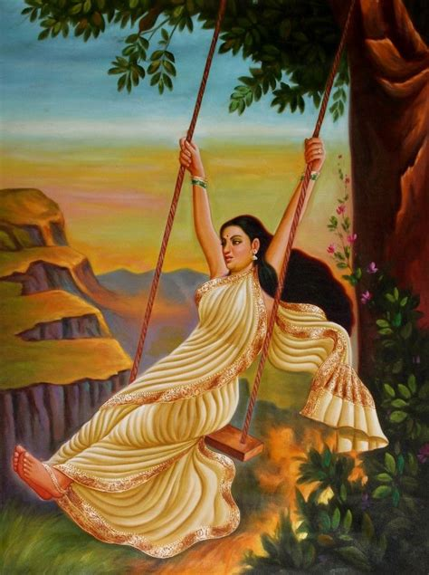 lady on swing painting 129 best images about traditional indian art on pinterest