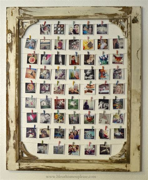 how to display pictures without frames diy instagram photo display bless this mess