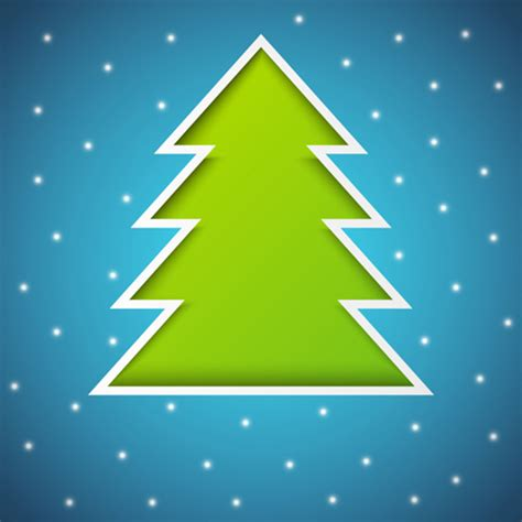 elements of abstract christmas tree vector free vector in