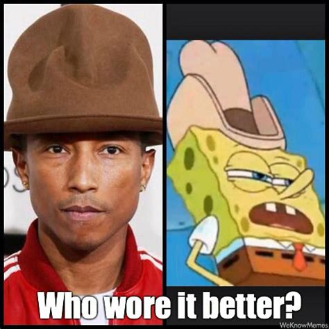 Pharrell Meme - everything pharrell s hat looked like at the grammy s