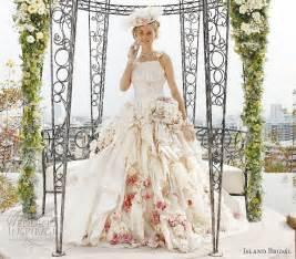 flowery wedding dresses island bridal white wedding dresses collection wedding