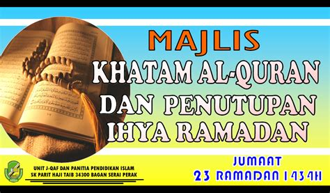 Biarkan Al Quran Menjawab Amin Sumawijaya majlis khatam al quran dan penutupan ihya ramadan i434h portal rasmi sk parit haji taib