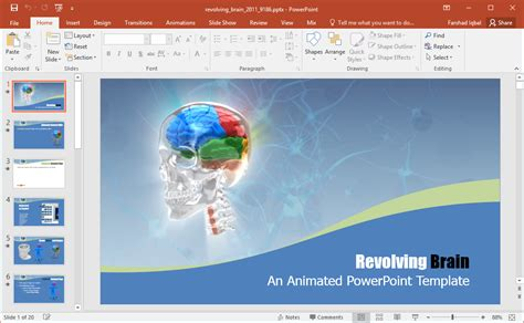 brain powerpoint template best brain clipart graphics for powerpoint