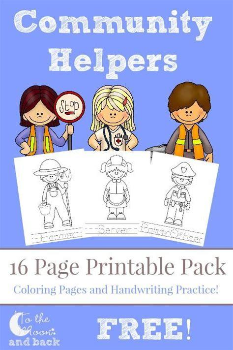 printable images community helpers feelings free printables and community helpers on pinterest