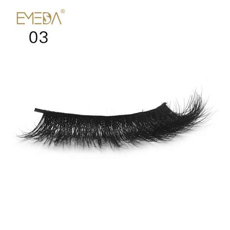 Eyelashes P03 wholesale 3d label mink eyelashes jh81 emeda eyelash