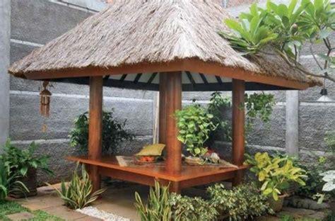 desain gazebo minimalis bambu  kayu desainrumahnyacom