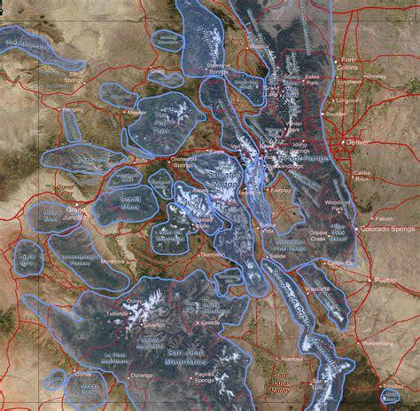 colorado mountains map my colorado aerial photographs index