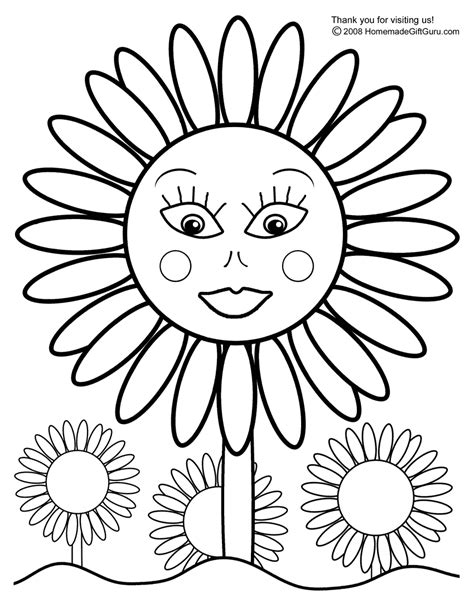 coloring pictures of sunflowers free coloring pages printable sunflower coloring pages