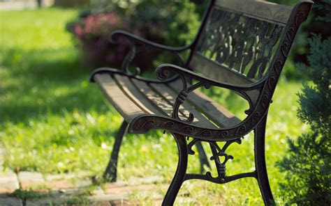 bench in park wallpapers hd wallpapers id 10999