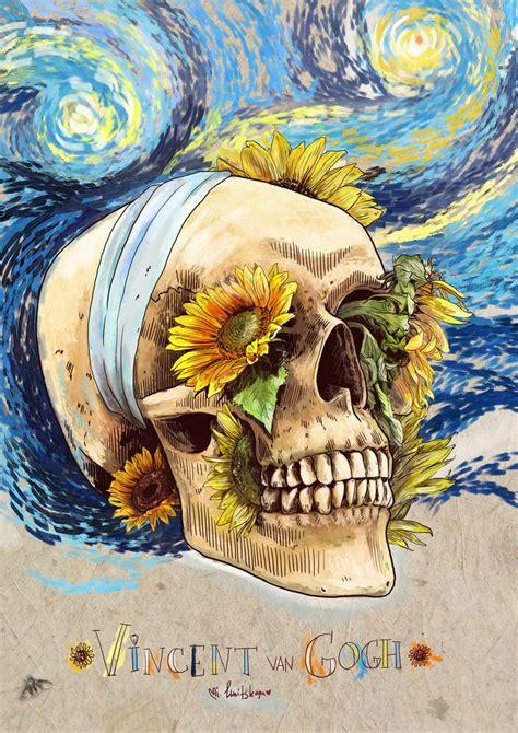 van gogh skull by mimi ilnitskaya skulls amp bones