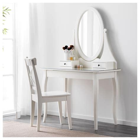 Ikea Tafel 50 Bij 50 by Hemnes Toilettafel Met Spiegel Wit 100 X 50 Cm Ikea