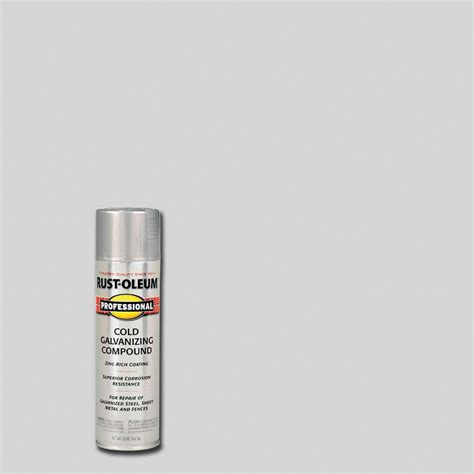 home depot zinc paint rust oleum professional 20 oz flat gray cold galvanizing