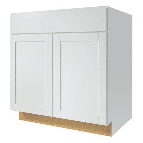 Kitchen Classics Cabinets Shop Kitchen Classics Arcadia 33 In W X 35 In H X 23 75 In D White Shaker Door And Drawer Base