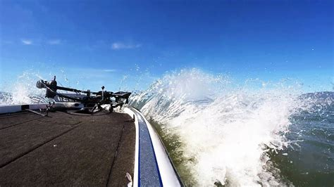 big waves boat video how to drive a boat in big waves youtube