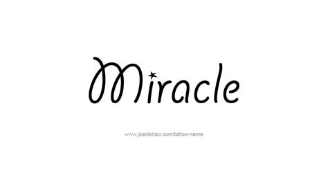 miracle name tattoo designs