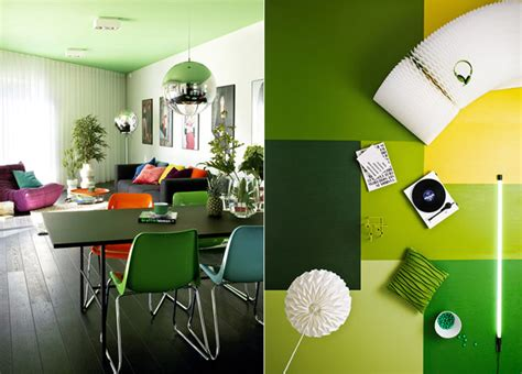 Green Interiors by Green Interior Spaces Splashes Of Colour In White
