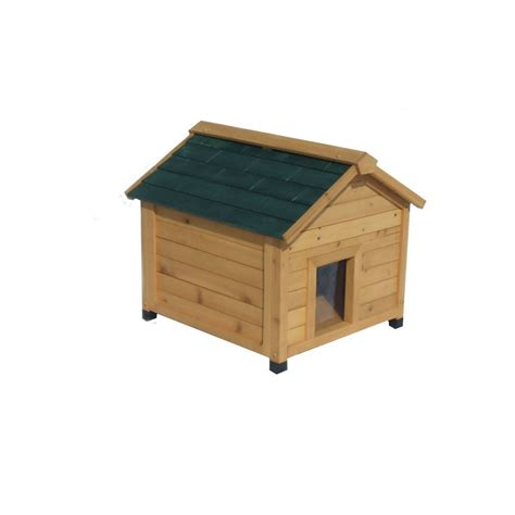 insulated dog houses lowes shop small cedar insulated dog house at lowes com