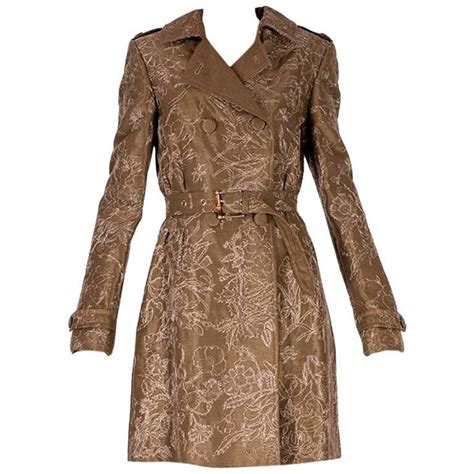 Jmp Dress Guccie Limited Edition gucci limited edition embroidered and beaded trench coat at 1stdibs