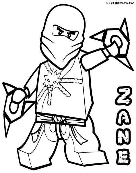 Zane Ninjago Coloring Pages ninjago coloring pages zane coloring home