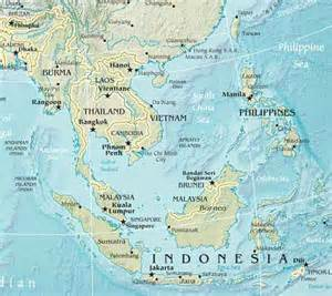 South East Asia Physical Map by Physical Map Of Southeast Asia