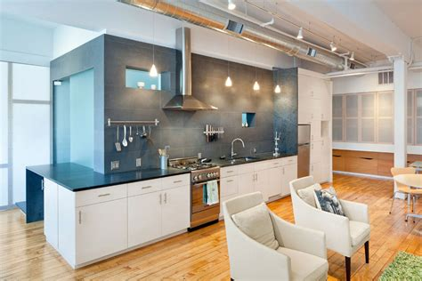 Kitchen Dining And Living Room Design open plan kitchen loft renovation in rhode island usa