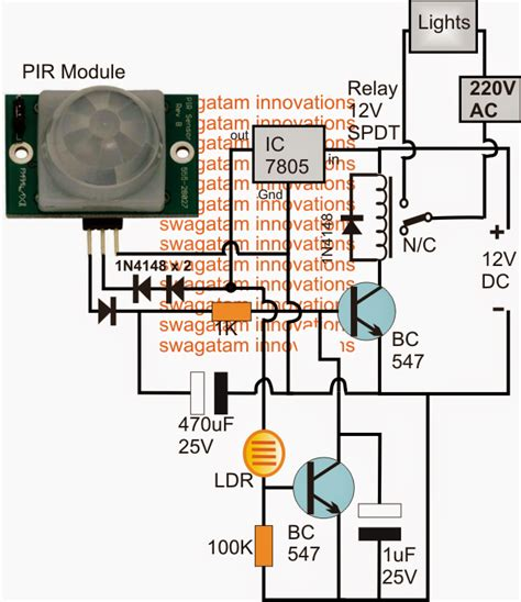 automatic pir controlled fan circuit for schools and