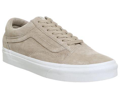 Vans Oldskool Black White Suede mens vans skool hummus suede true white trainers shoes