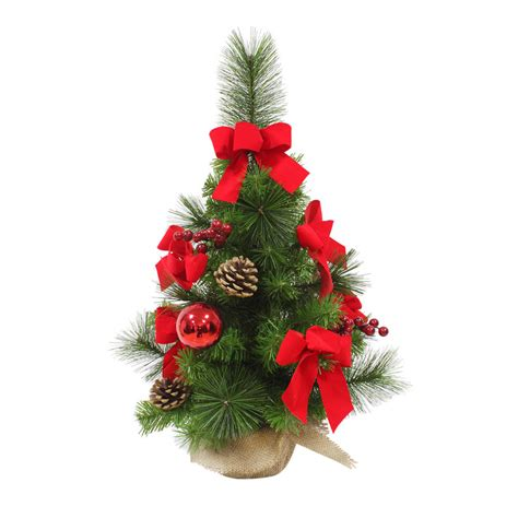 miniature decorated trees decorated artificial mini tree 60cm 3 styles