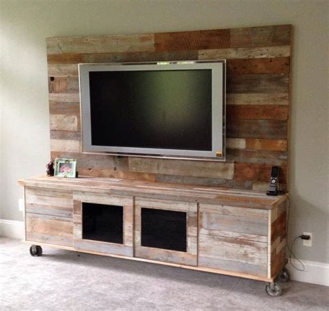 rustic entertainment center wood  remodel