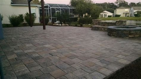 large paver patio patio pergola water feature elite pavers of ta bay