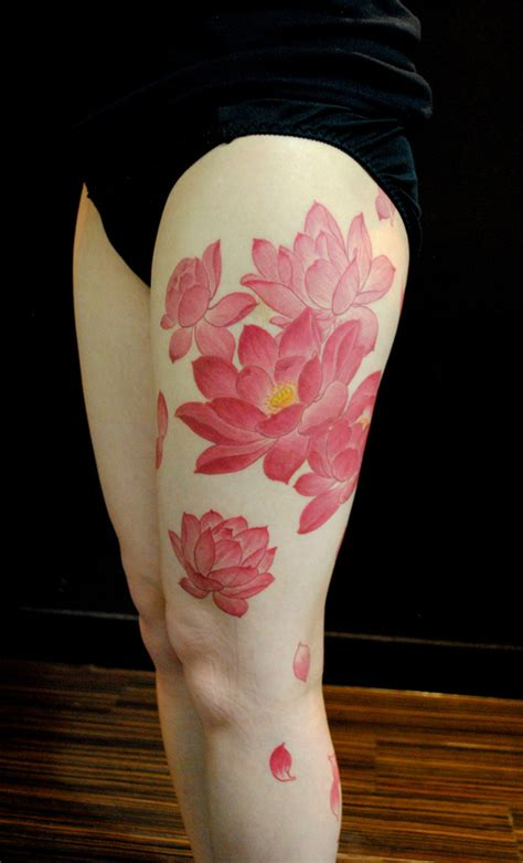 lotus flower thigh tattoo lotus flower 20 of our favourite lotus flower