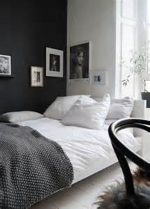 black accent wall black and white decorating ideas for bedrooms