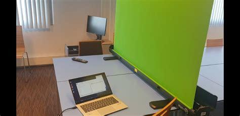 zoom  green screen  create news reader style  media education
