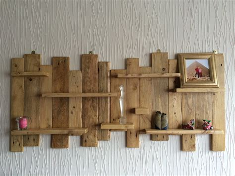 rustic wall shelves pallet wall mounted shelf unit rustic and handmade from