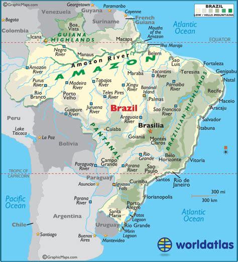 map of brasil highlands map