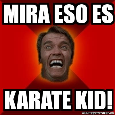 Karate Meme Generator - meme arnold mira eso es karate kid 340761