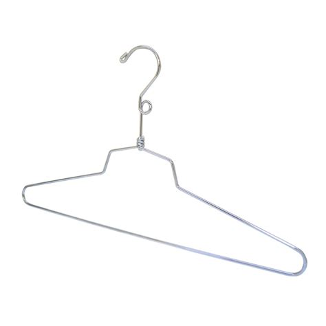 Hanger Setelan 16 Inchi 10 pc 16 quot dress hanger clothes display store fixture chrome finish with loop