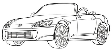 coloring pages honda cars honda s2000 coloring page places to visit