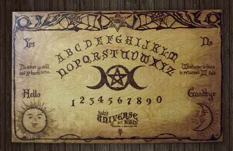 Handmade Ouija Boards - large 24 x 15 1 side witch handmade wooden ouija board