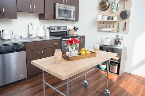 diy kitchen island table how to build a kitchen table on wheels
