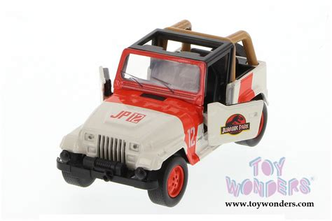 jurassic world jeep toy jada toys jurassic world jeep wrangler 97074 1 43 scale