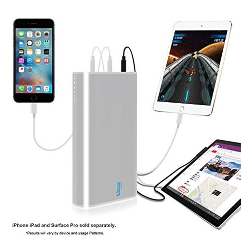 apple quick charge lizone qc 35000mah 5 ports portable charger power bank