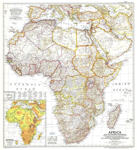 africa map 1950 africa and the arabian peninsula map 1950 maps