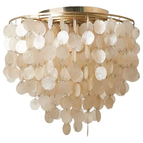 Shell Light Shades Pendant Verner Panton Capiz Shell Chandelier For Sale At 1stdibs