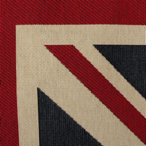 Large Woven Union Jack Flag Heavy Linen Look Upholstery